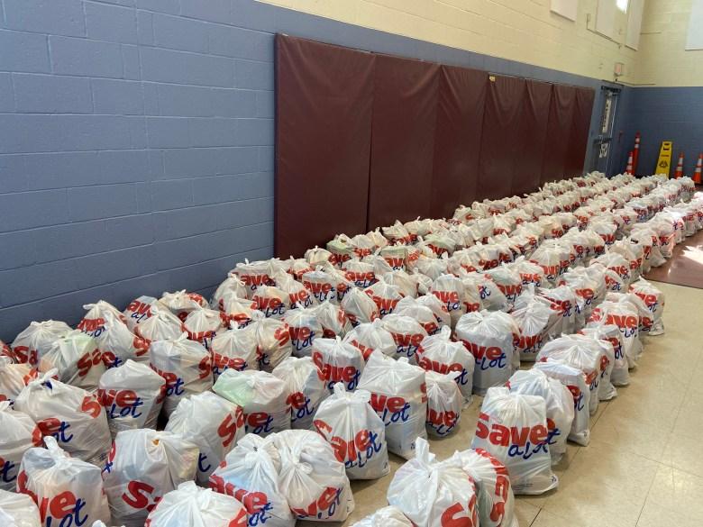 Salvation Army COVID-19 coronavirus food bags