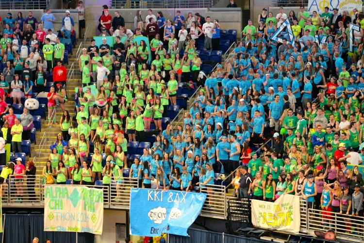 THON 2014 Blue & Green Sections - Grant Brown
