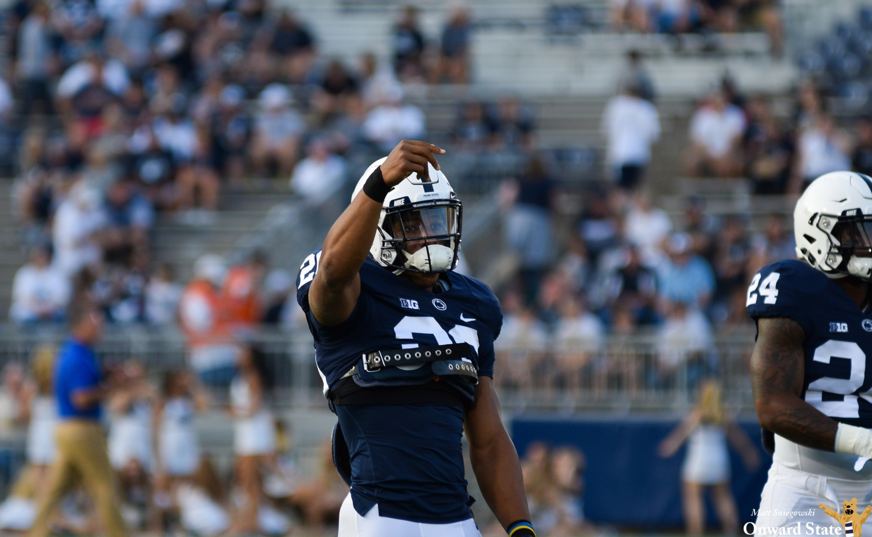 Saquon Barkley is surprised with a letter from his mom