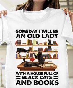 Someday I will be an old lady with a house full of black cat and books s unisex, hoodie, sweatshirt