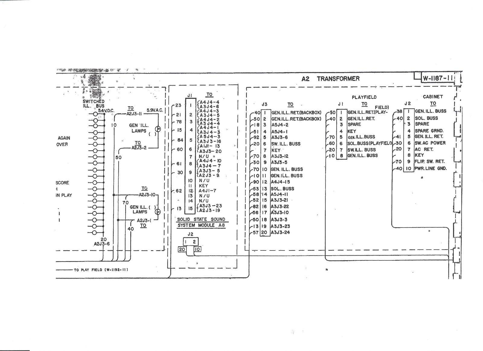 Any Bally Rectifier Board Wiring Diagrams