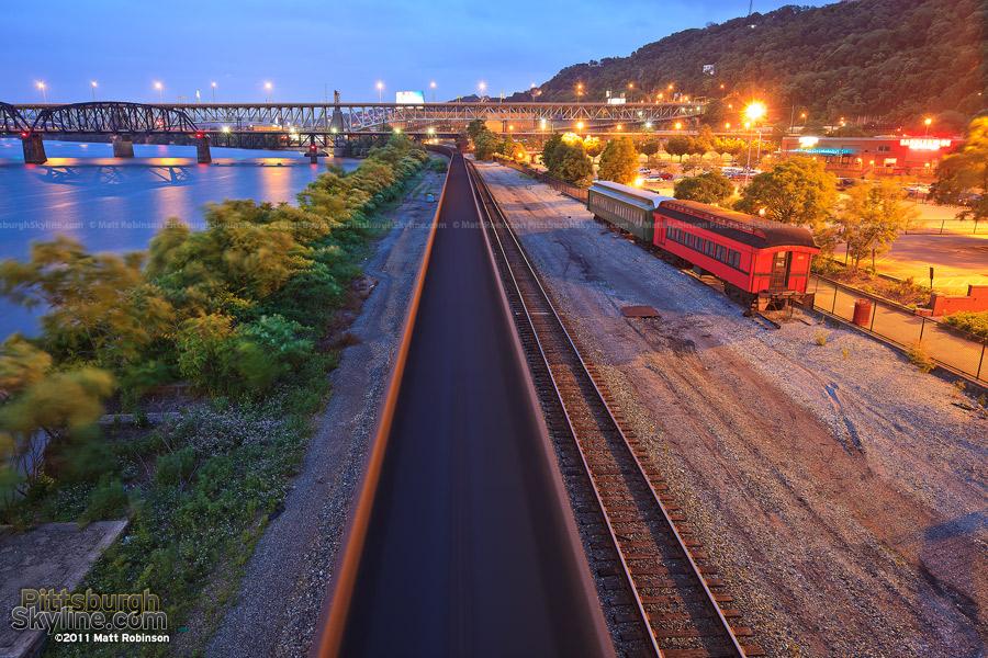 CSX Train runs through Station Square
