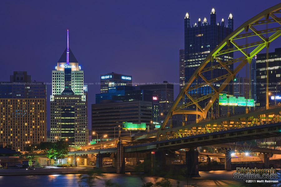 Fort Pitt Bridge and Downtown Pittsburgh