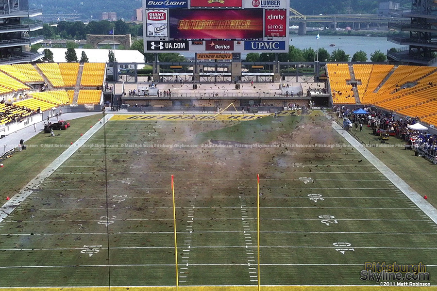 Gotham Stadium (Heinz Field, Pittsburgh) explodes