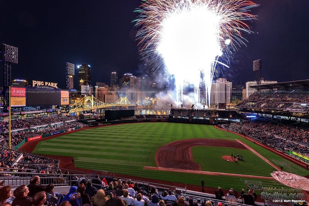 Grand Finale firework light up PNC Park and Pittsburgh