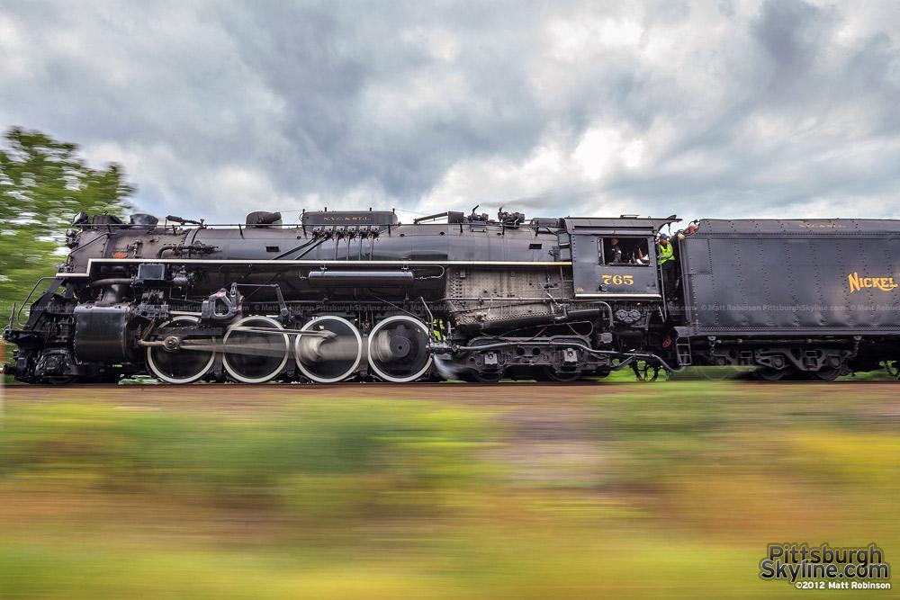 Steam Engine 765 speeds along in Pennsylvania