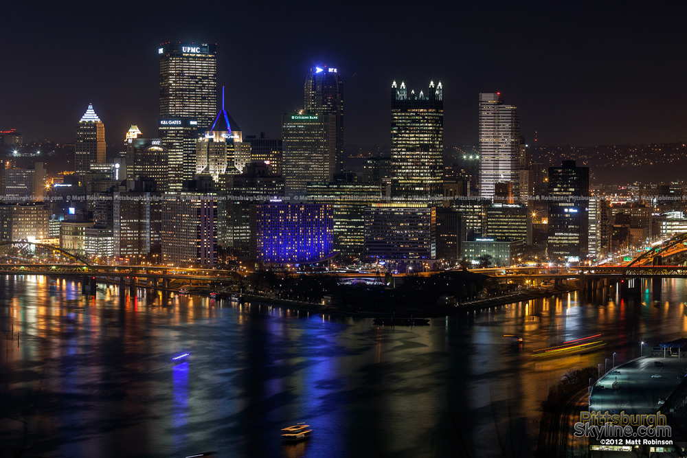 Pittsburgh Light Up Night 2012 from West End Overlook - 1