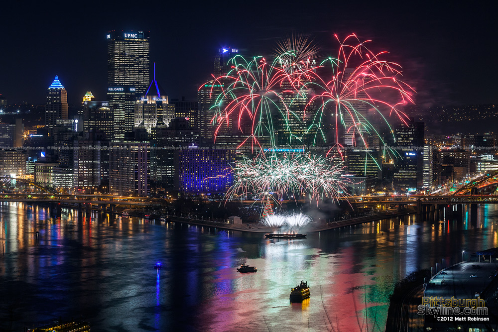 Fireworks over Pittsburgh on Light Up Night 2012 - 3