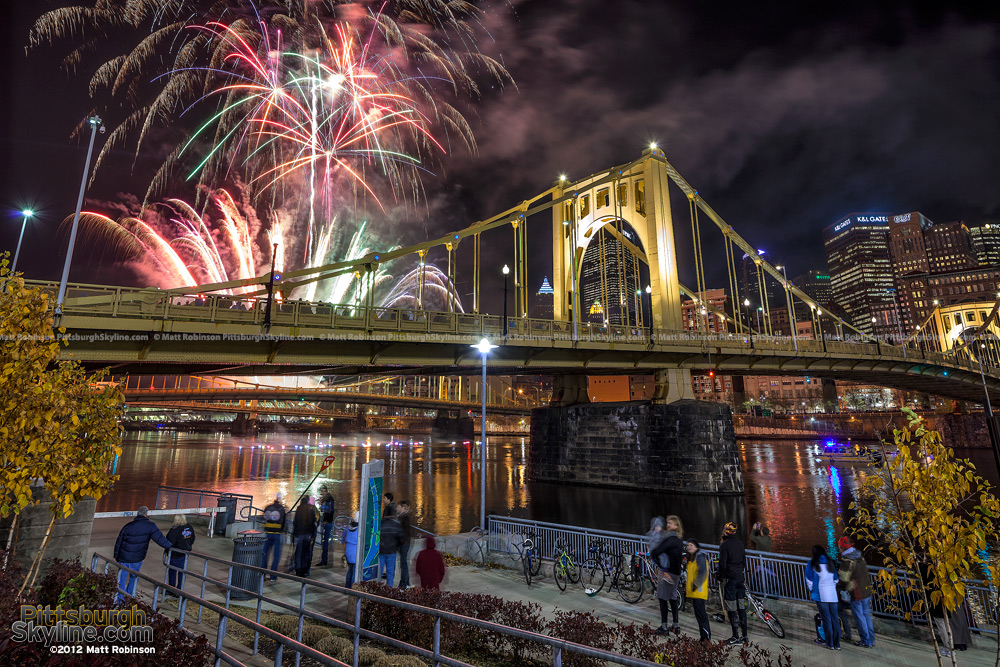 Roberto Clemente Bridge and Zambelli fireworks Light up night