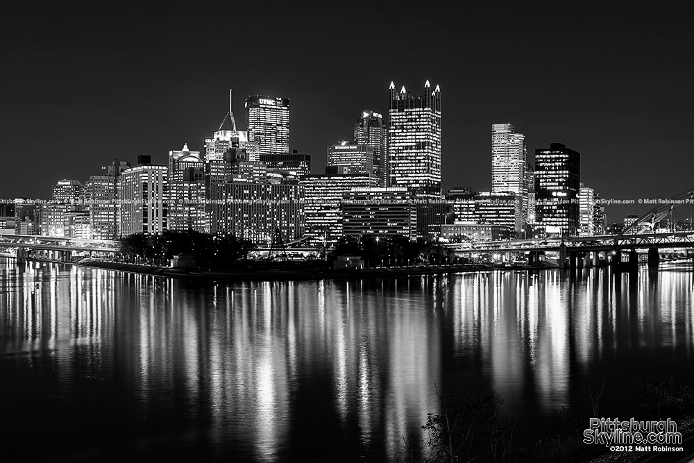 Pittsburgh Black and White on Light Up Night