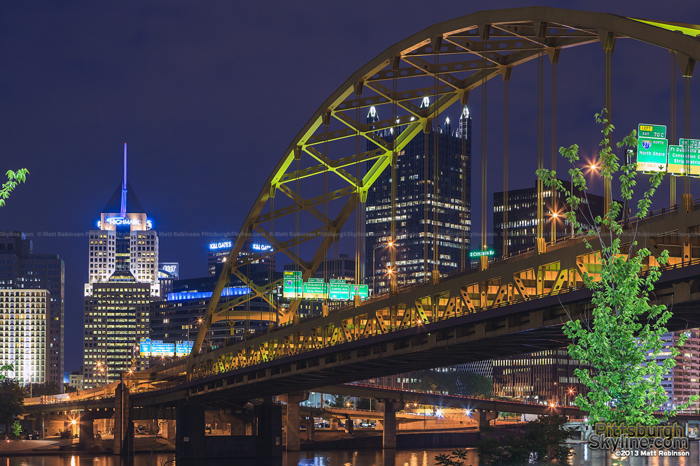 PPG Place and the Fort Pitt Bridge