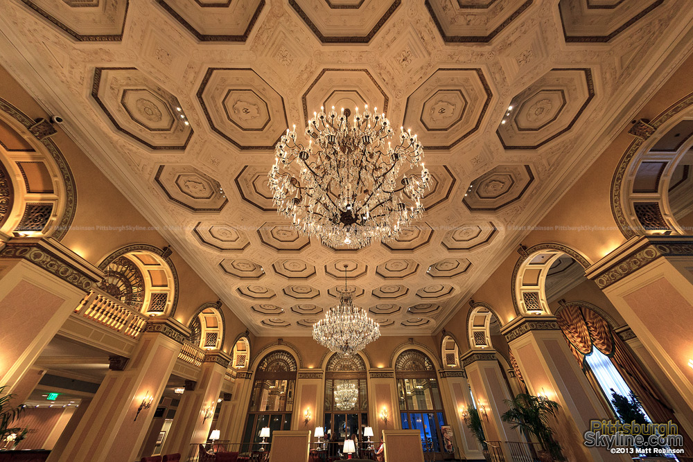 Interior of lobby the Omni William Penn Hotel