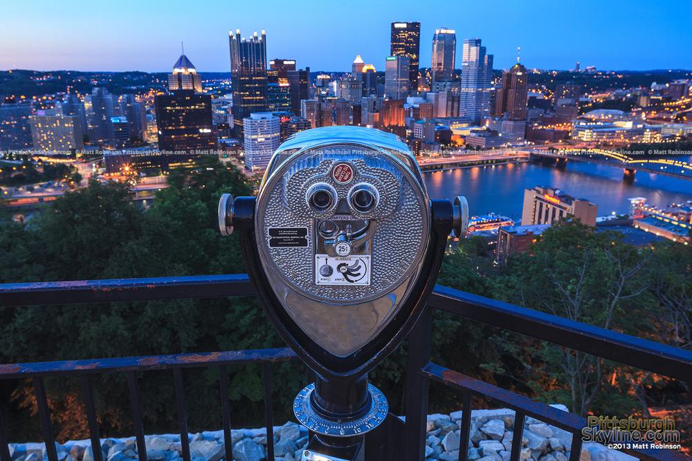 Viewfinder on Mount Washington Looking towards Pittsburgh