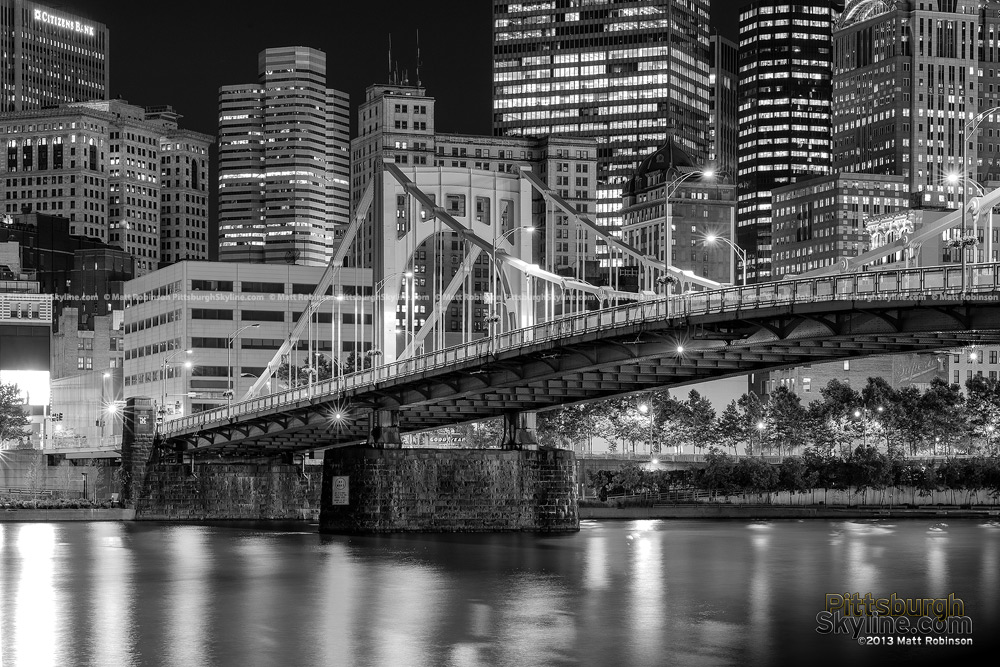 Black and White Cityscape Pittsburgh