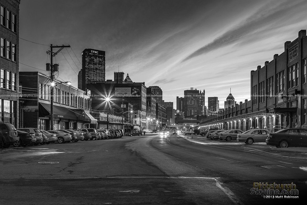Black and White Pittsburgh Strip District
