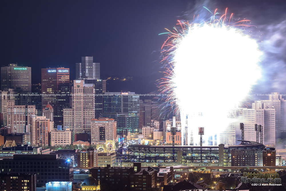 Grand finale Fireworks at PNC Park illuminate the city