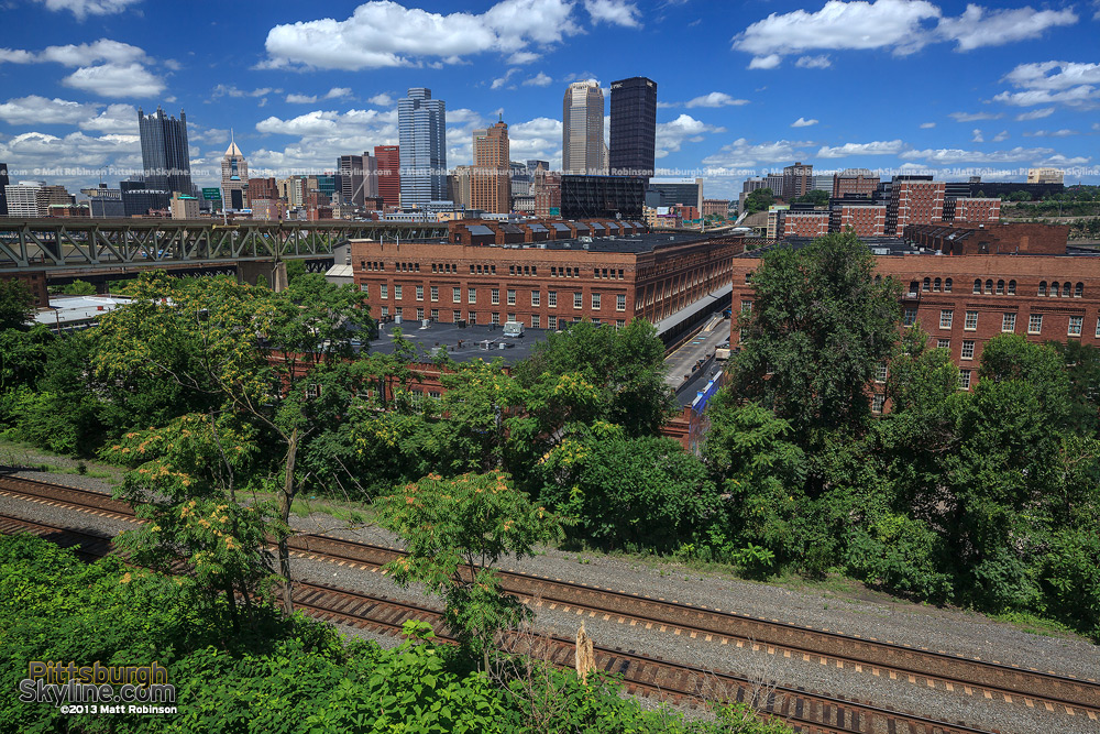 Railroad tracks and Pittsburgh from PJ McArdle