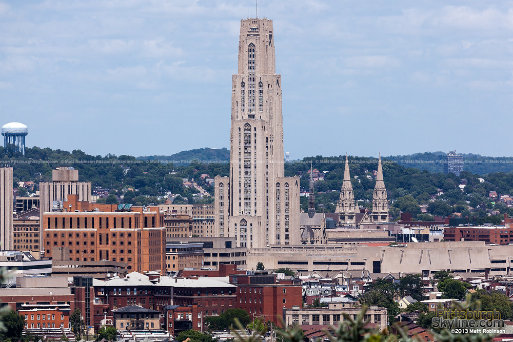 Cathedral of Learning view from the South Side Slopes