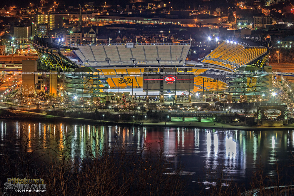Heinz Field at Christmas