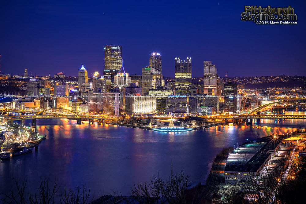 Classic Downtown Pittsburgh from the West End Overlook