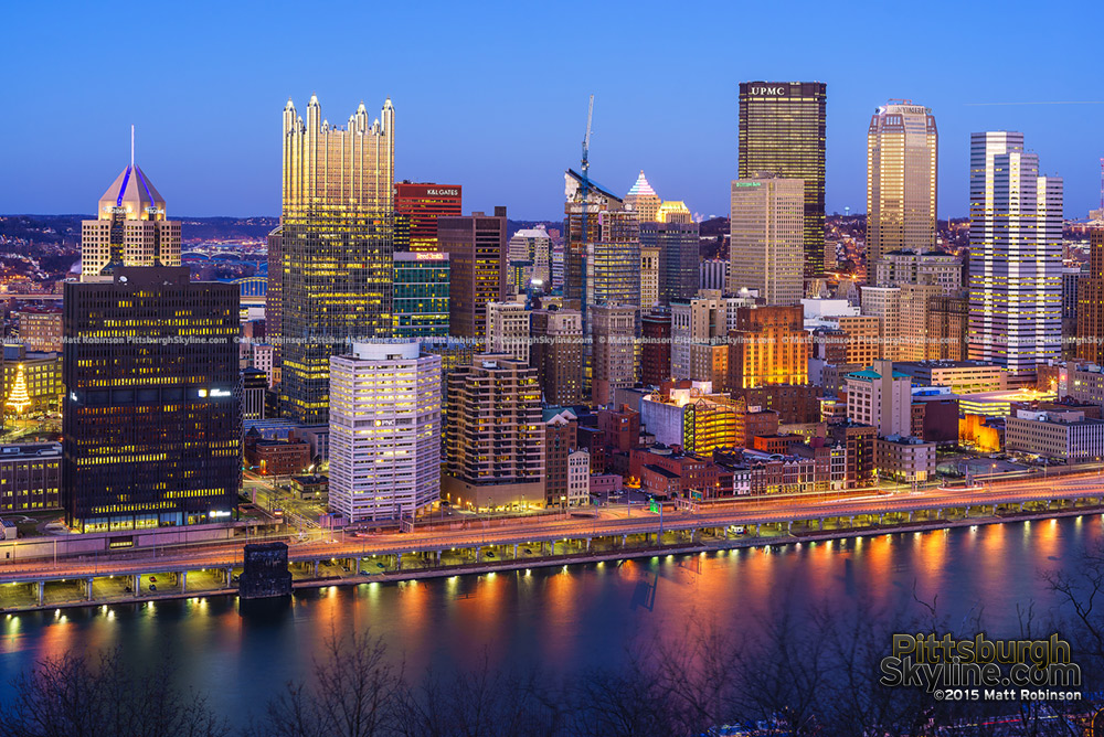 Pittsburgh Skyline at Golden Hour
