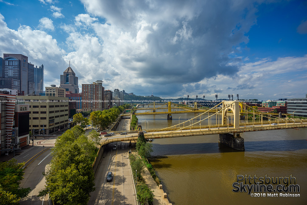 View of the Allegheny River from the Convention center Rooftop