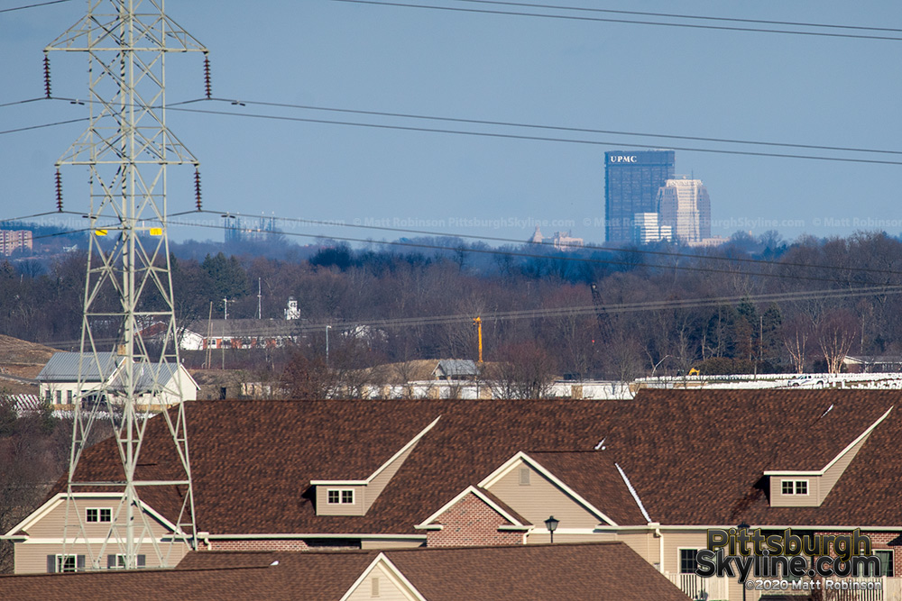 Downtown Pittsburgh as viewed from Southpoint, Canonsburg