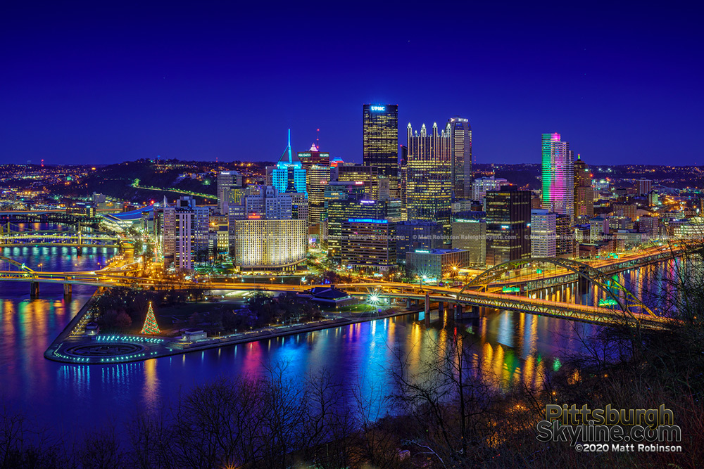 First sundown of the new decade, Pittsburgh 2020