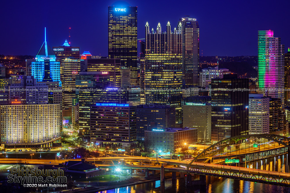 Downtown Pittsburgh Skyline 2020