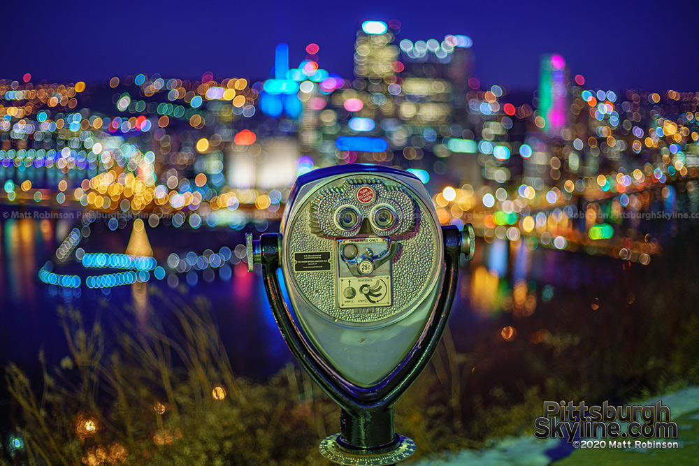 Pittsburgh in view of a Viewfinder from Grandview