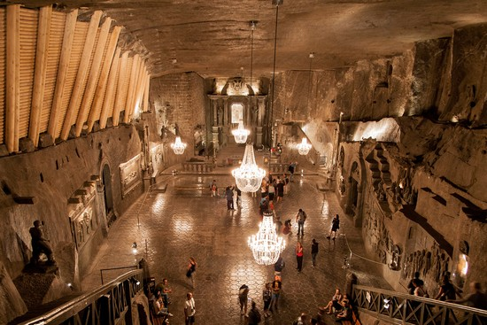 Foto Miniera di sale di Wieliczka a Cracovia  550x367