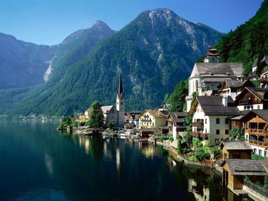 Foto tipico paesaggio Austriaco a Salisburgo  533x400