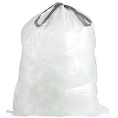 Tall Kitchen Bags Pantry Storage 13 Gal Extra Drawstring White Trash W13dswh Plasticplace