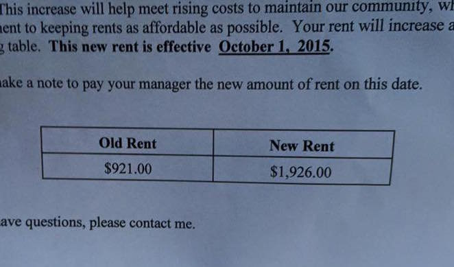 (((Cajsa))) shares Holy shit, look at this rent increase an acquaintance of mine received. It is not a typo. And this i - #l4823s - Plurk
