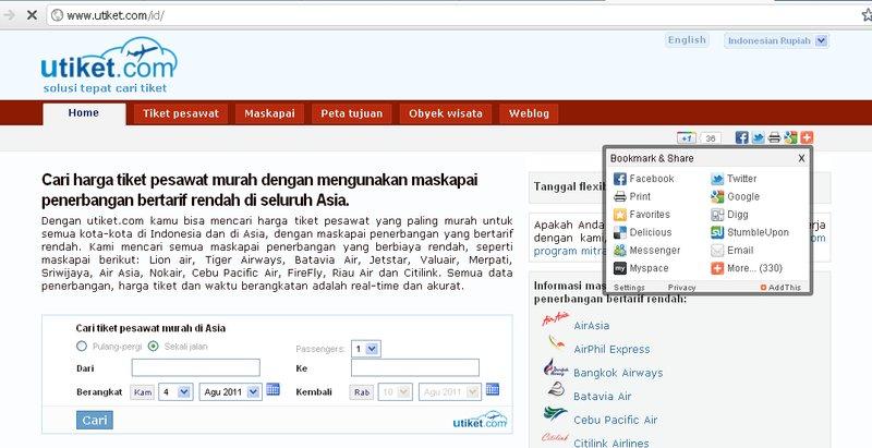 Screenshot utiket