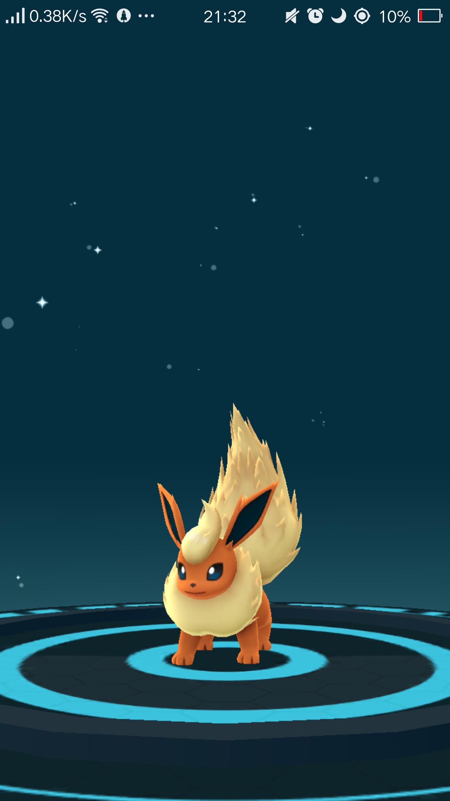 瀀漓♬哲天使⎝( ^q^ )⎠ - 我的伊布進化成火精靈了耶 好可愛喔 - Plurk
