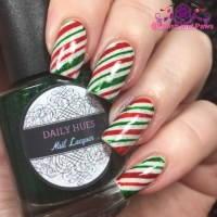 Nail Art ~ Candy Cane Nails | Polish and Paws