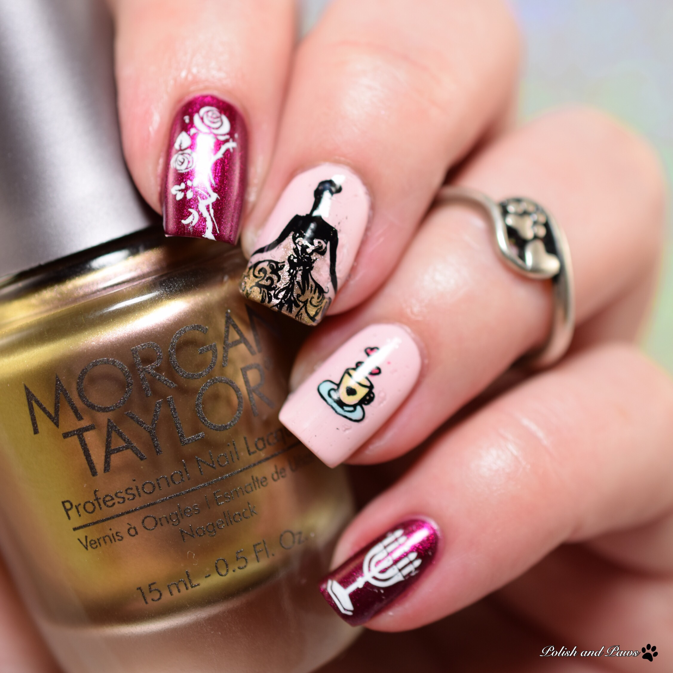 Man Taylor Beauty And The Beast Inspired Nail Art