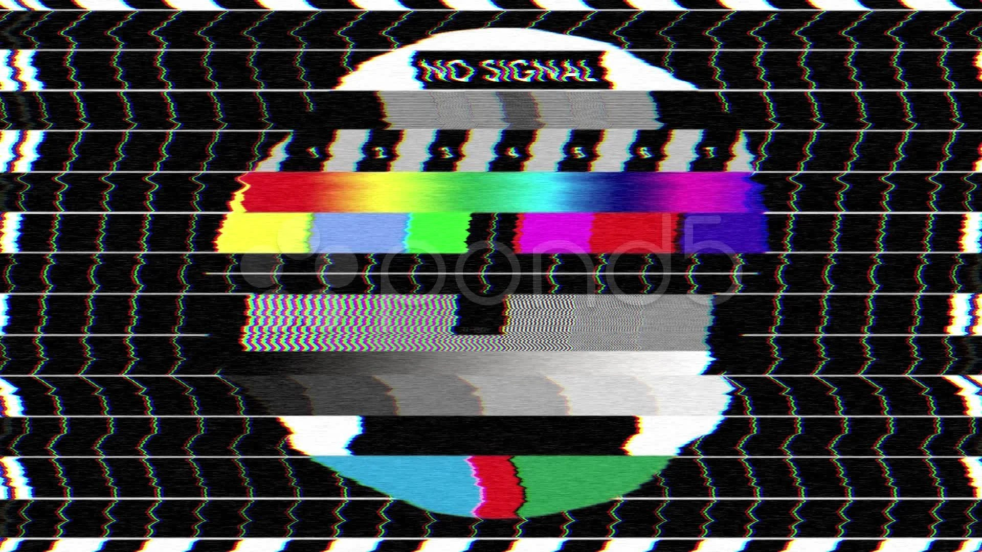Bad TV Screen I  Static No Signal Noise  Sound  Video
