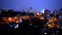 Birmingham England City Centre Skyline Night Footage