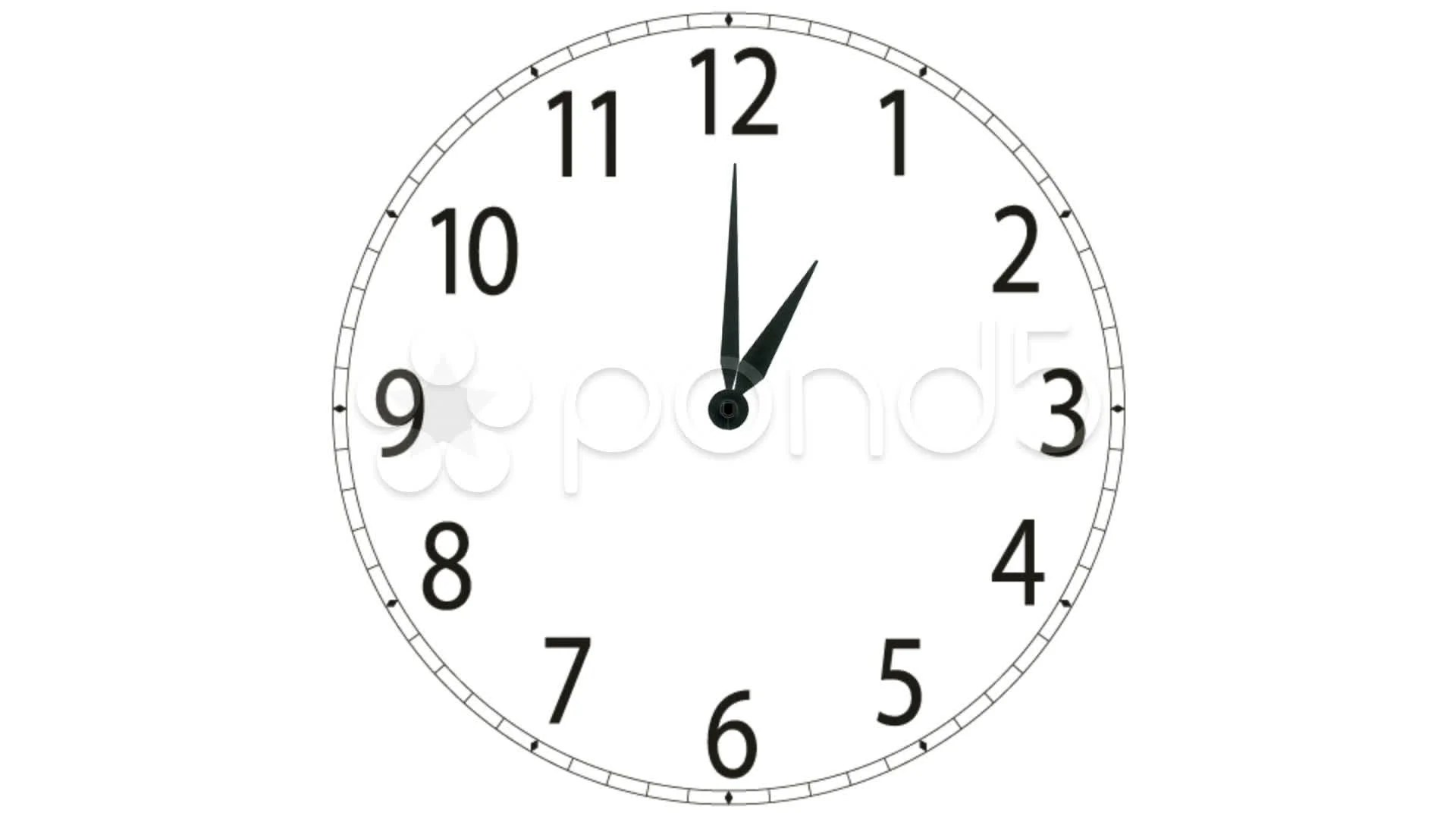 Clock Moving The Hands 12 Hours Timelapse Animation Quick