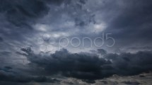 Dark Stormy Clouds. Time-lapse Motion Background 1080p