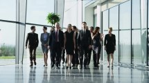 Diverse Team Of Business People In Light And Modern