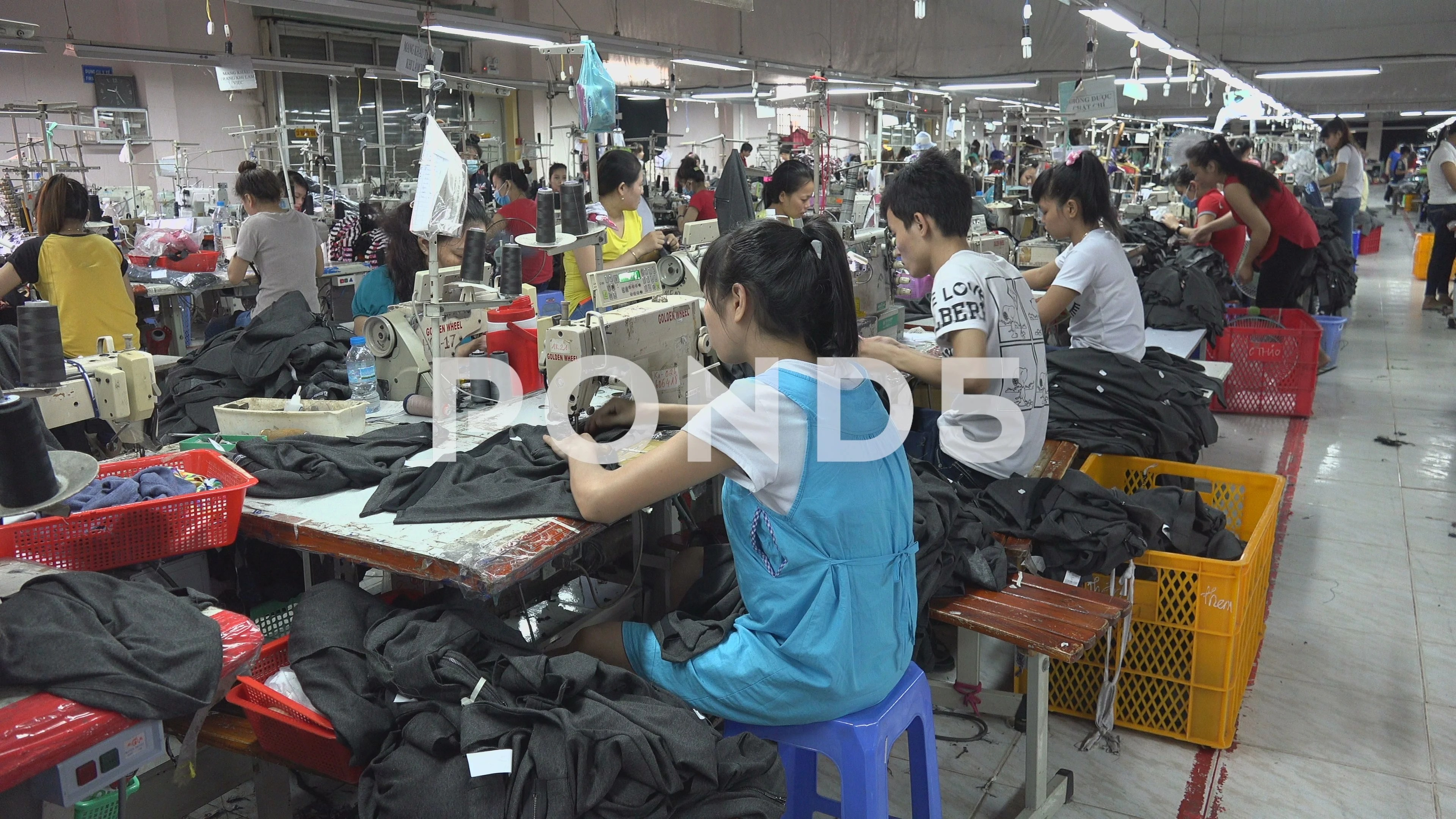 Garment Production Clothing Factory Floor Manufacturing