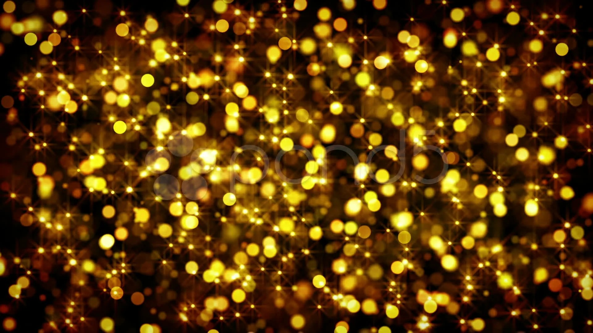 3d Depth Purple Abstract Wallpapers Gold Bokeh Circles And Stars Loop Video Clip 11241547