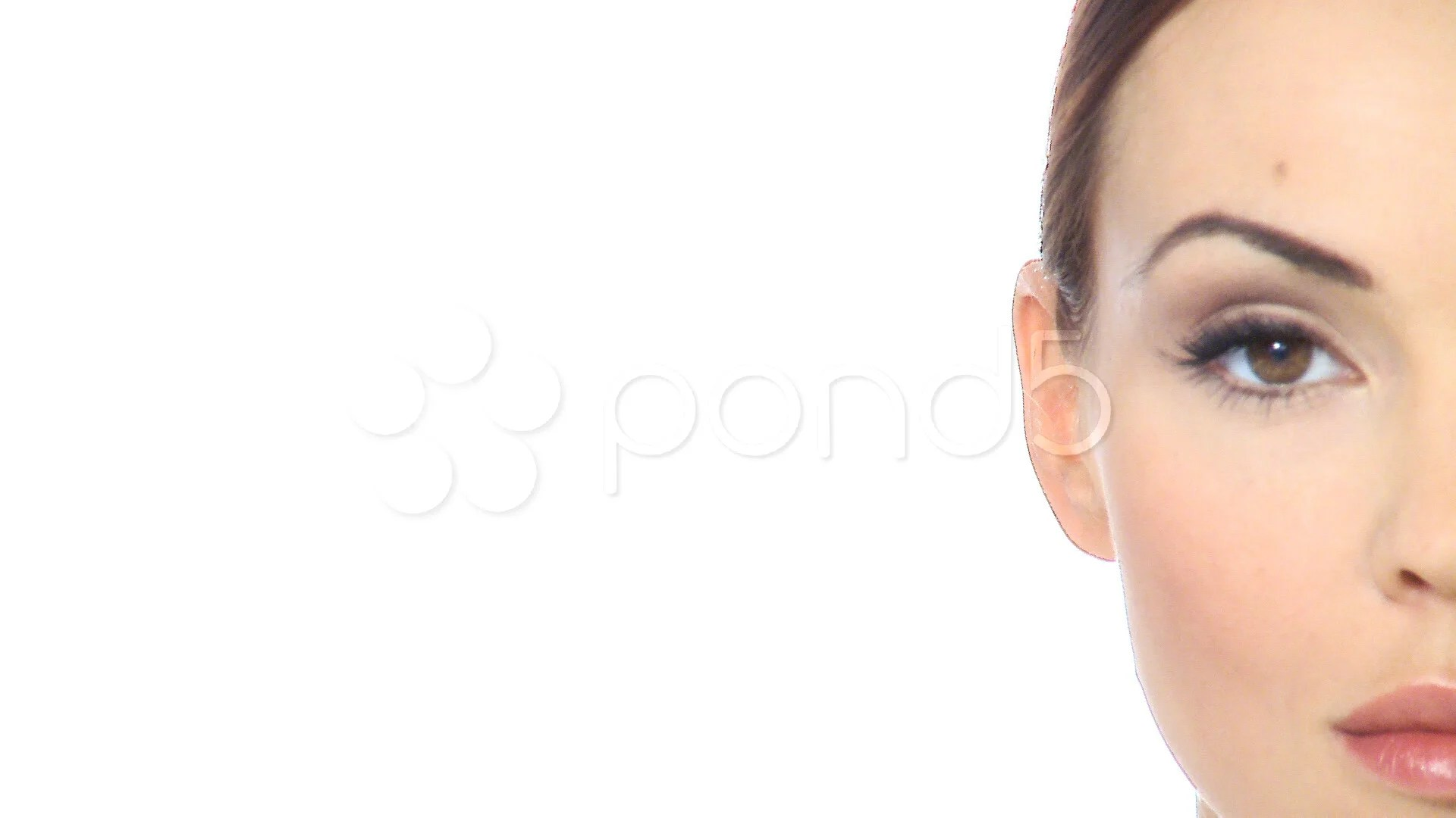 Half Face Portrait Of Beautiful Woman Hi Res Video