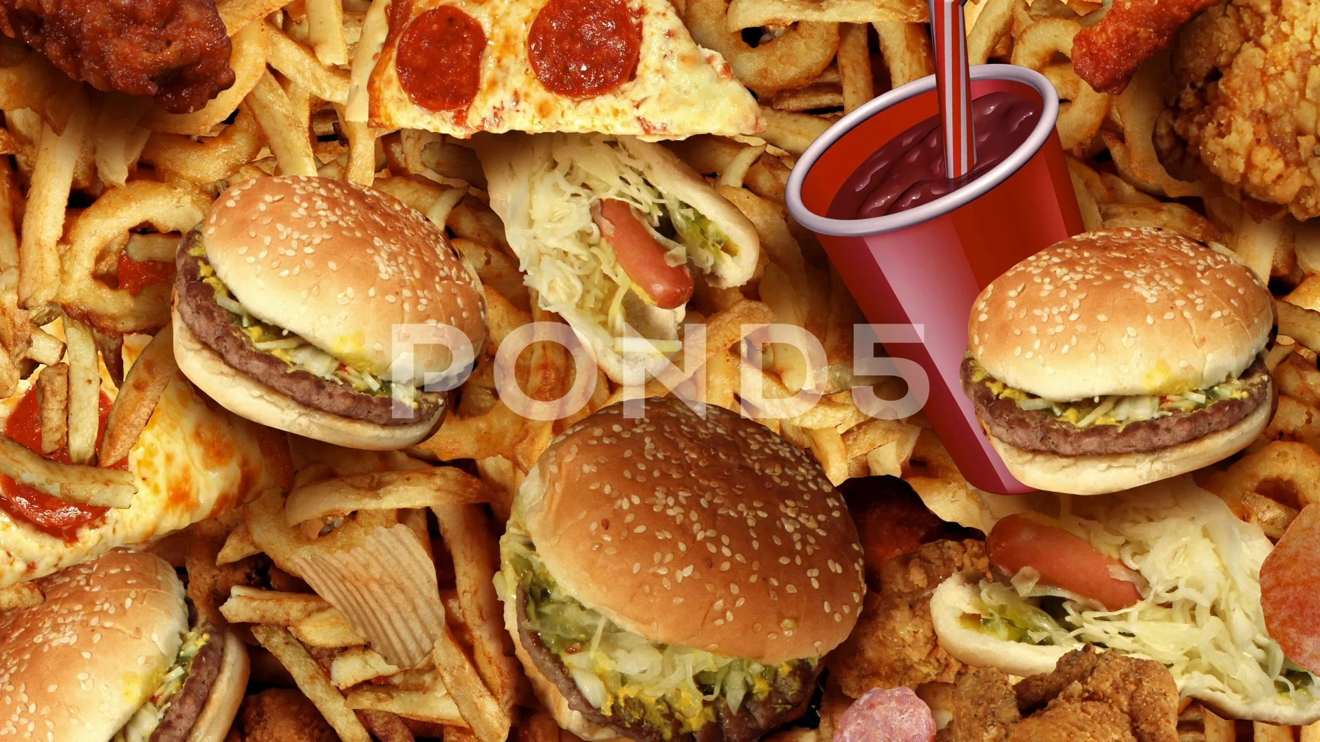 unhealthy food images