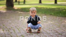 Little Boy Foot Stomp
