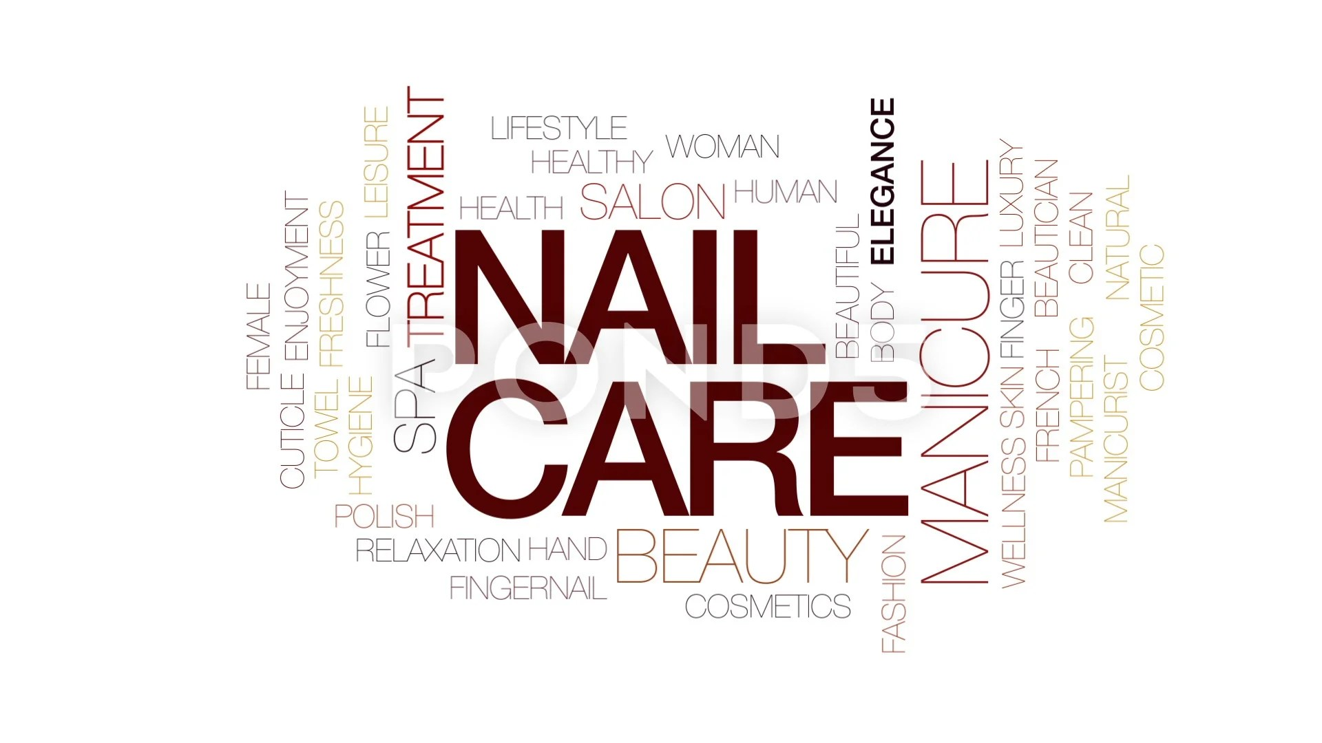 hight resolution of nail care animated word cloud text design animation kinetic typography clip 80699957