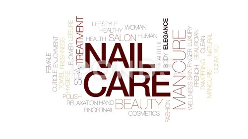small resolution of nail care animated word cloud text design animation kinetic typography clip 80699957